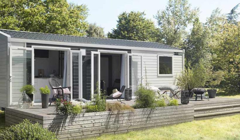 Location mobil-home Vosges Camping Clos De La Chaume : Bungalow Zen avec bain nordique