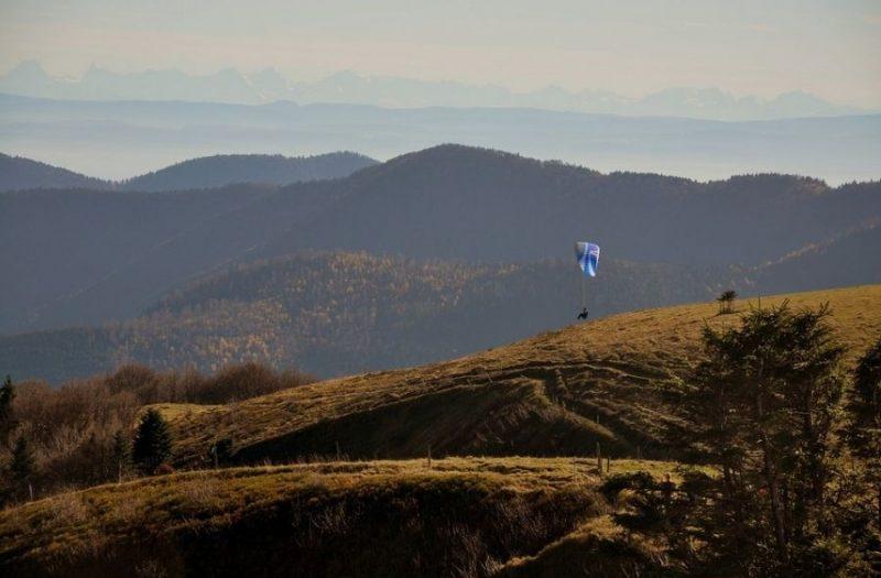 parapente dans les Vosges
