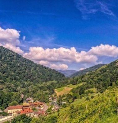 Vue sur La Bresse en séjour au Clos De La Chaume un camping proche La Bresse