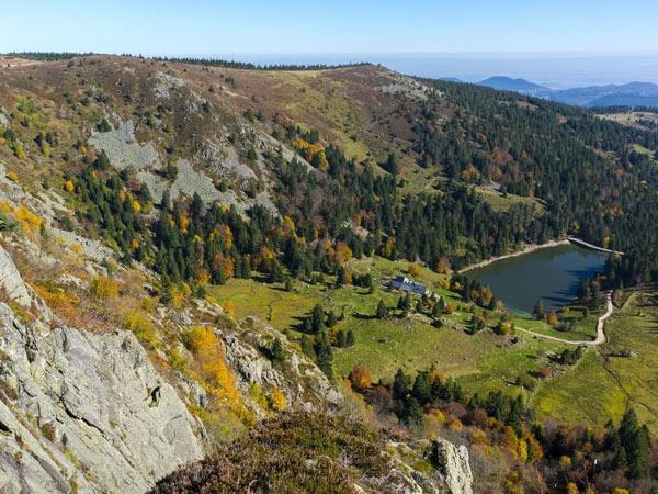 Camping Clos De La Chaume : Camping Vosges, Vue Panoramique Sur Le Parc Naturel Des Ballons Des Vosges